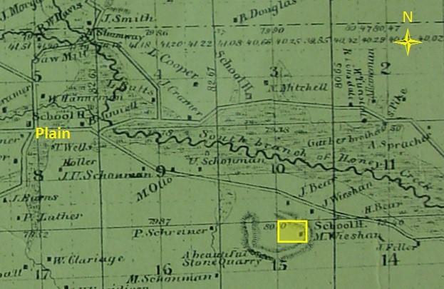 1860 map Weishan homestead